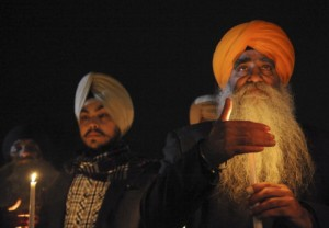 Sikhs at Newtown, CT vigil